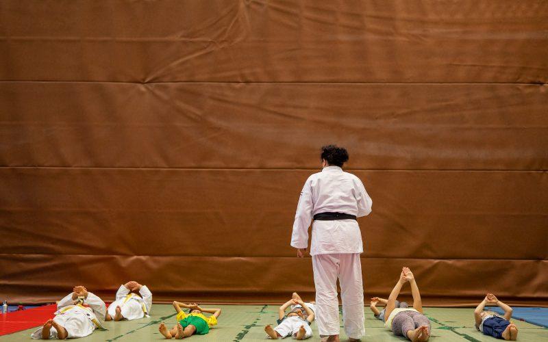 Maria Torboli insegna Judo ai Bambini a Riva del Garda